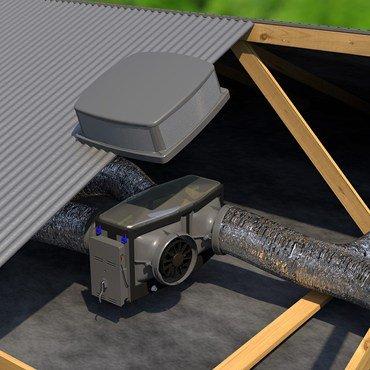 Brivis Iceberg & rinnai I series roof evaporative cooler
