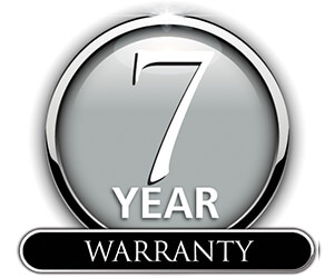 Limited Offer - 7 Year Product Warranty