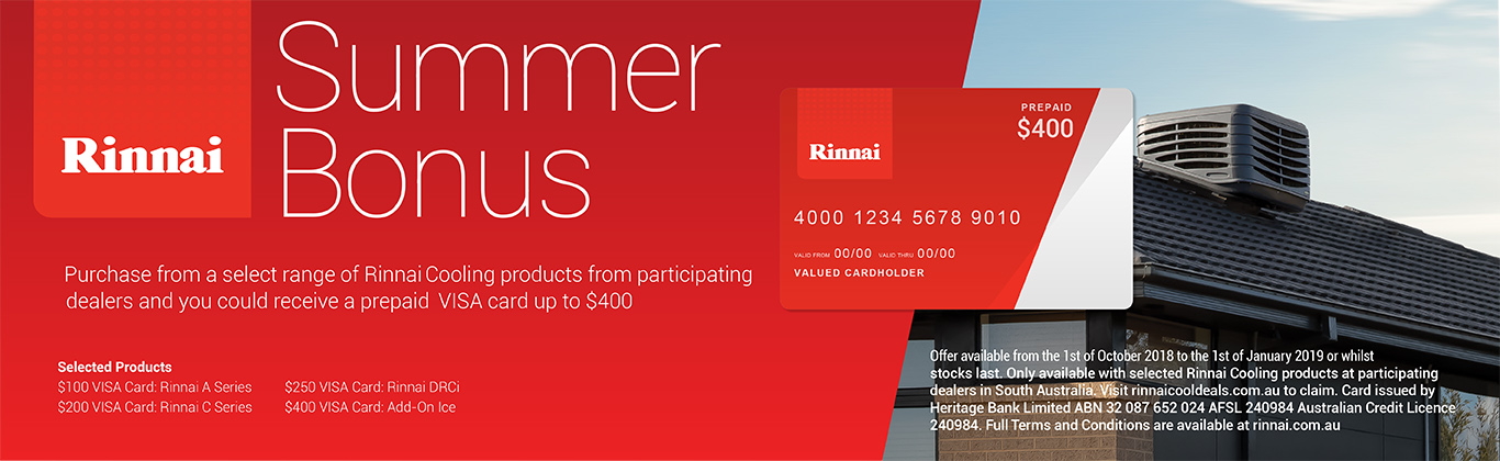 Rinnai – Ducted Evaporative Cooling