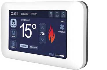 RINNAI DUCTED GAS TOUCH CONTROLLER