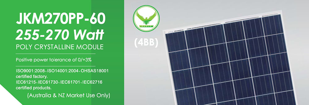 Jinko 270W PP-60 Solar Panel Banner