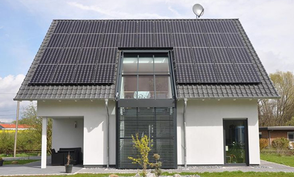 LG Solar Panels On House